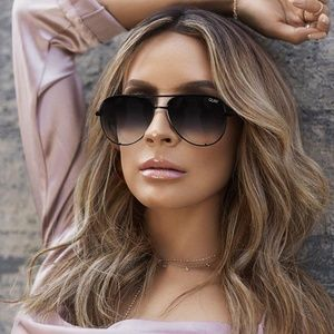 Quay High Key Mini Aviator Sunglasses